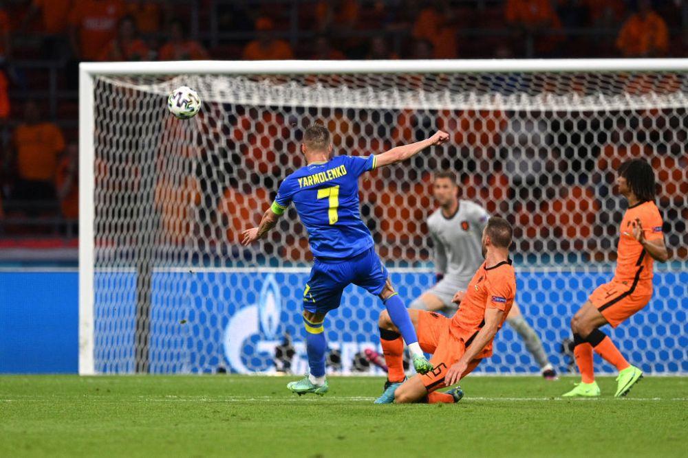 VIDEO   Direct in vinclu! Yarmolenko inscrie un gol superb, direct in coltul portii Olandei