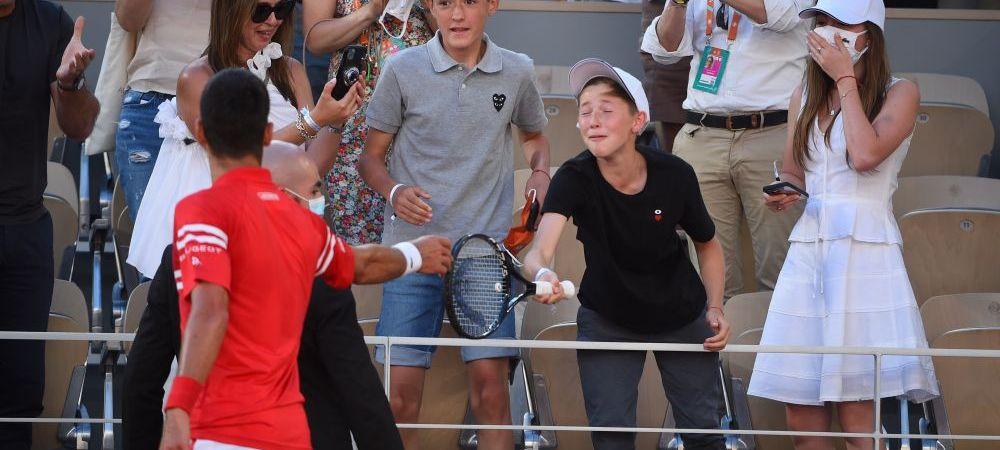 Novak Djokovic i-a oferit unui copil un cadou de sute de mii de euro dupa ce a castigat Roland Garros! Pustiul norocos a fost in extaz