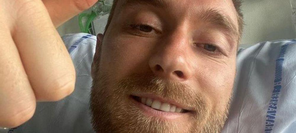 Prima fotografie cu Christian Eriksen in spital. Mesajul transmis de danez