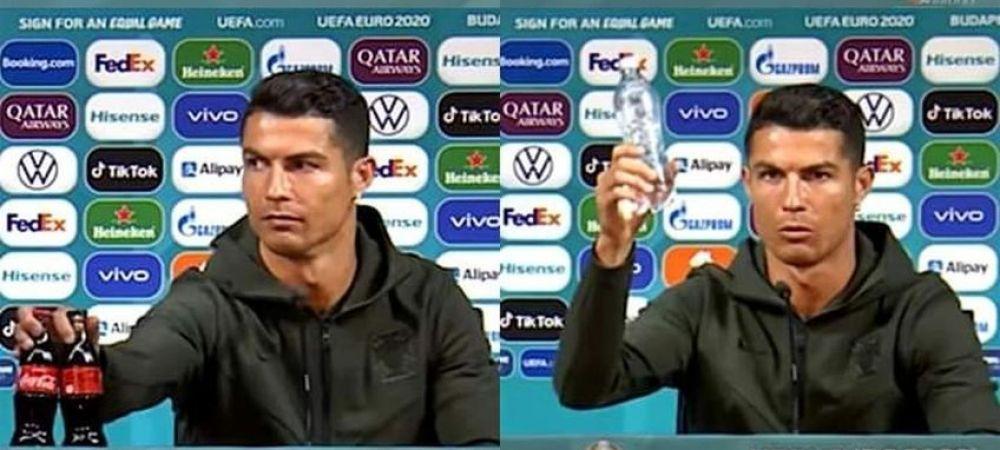 Premiera incredibila dupa gestul lui Ronaldo care a facut inconjurul lumii! Actiunile Coca-Cola au scazut dramatic