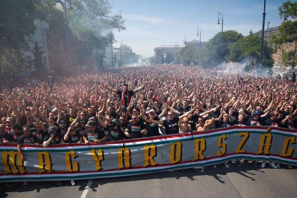 Budapesta fierbe inainte de Ungaria - Portugalia! Zeci de mii de suporteri sunt in stada!