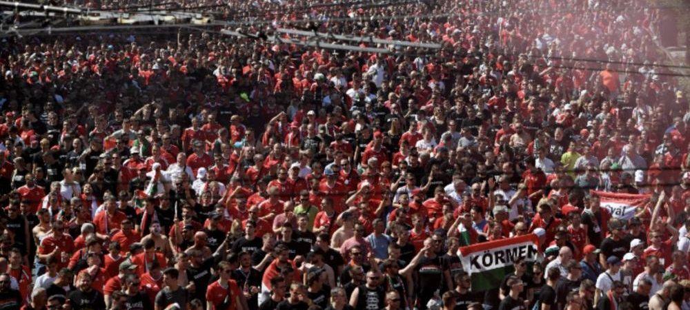 Budapesta fierbe inainte de Ungaria - Portugalia! Zeci de mii de suporteri sunt in strada!