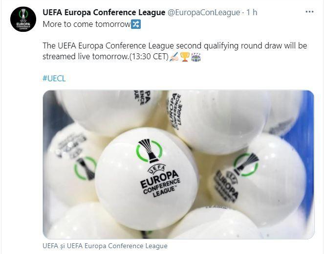Incep emotiile pentru echipele din Liga 1! FCSB, Craiova si Sepsi isi afla miercuri adversarele din turul doi preliminar al Conference League