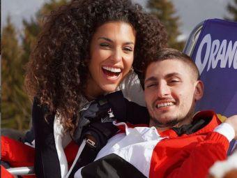 Ce iubita superba are Marco Verratti, mijlocasul nationalei Italiei. Bruneta face furori oriunde apare