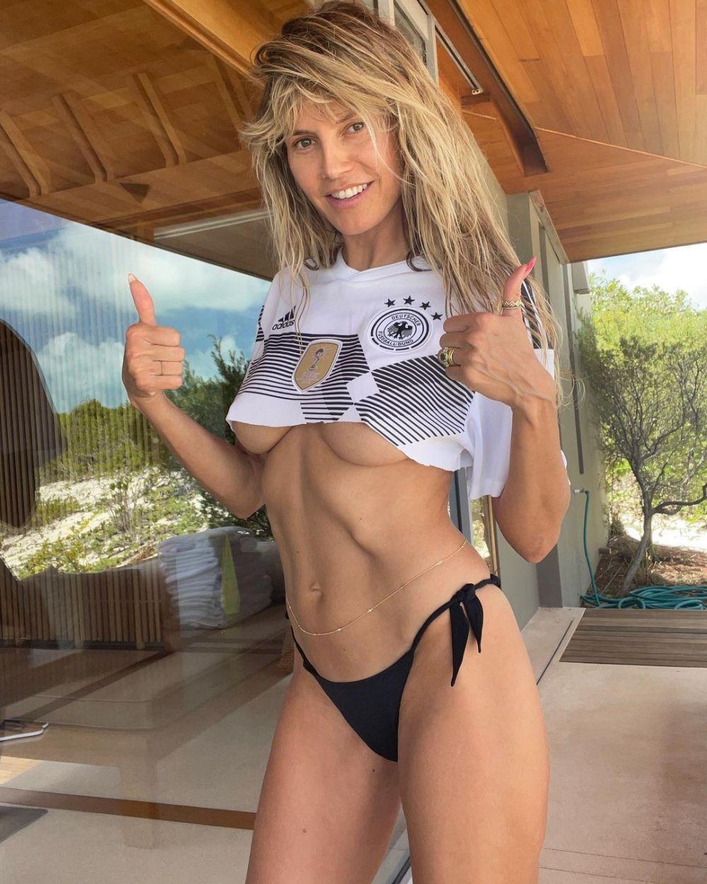 Heidi Klum a incins toate retelele de socializare cu fotografia asta! A renuntat la haine pentru a sustine nationala Germaniei la Euro! Cum s-a pozat