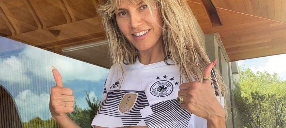 Heidi Klum a incins retelele de socializare cu fotografia asta! A renuntat la haine pentru a sustine nationala Germaniei la Euro! Cum s-a pozat