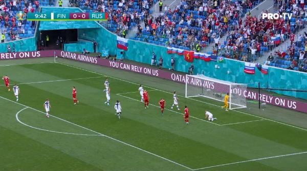 Ratare Rusiei din minutul 10.