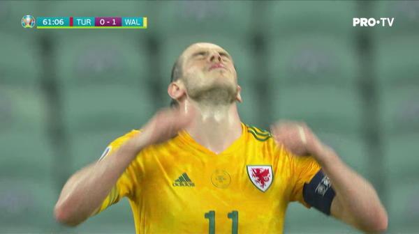 Ratare incredibila a lui Bale! Portarul, aproape de o gafa majora