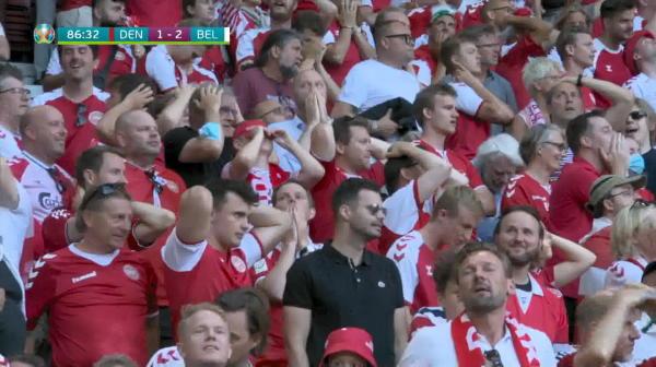 Danemarca trece pe langa egalare in minutul 87 al meciului cu Belgia