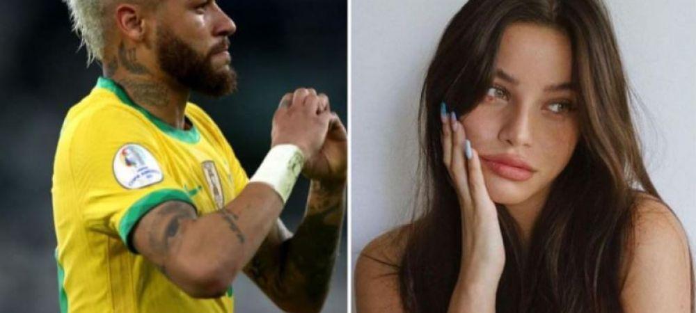 Cat de frumoasa este noua iubita a brazilianului Neymar. Fotbalistul i-a dedicat golul din meciul cu Venezuela