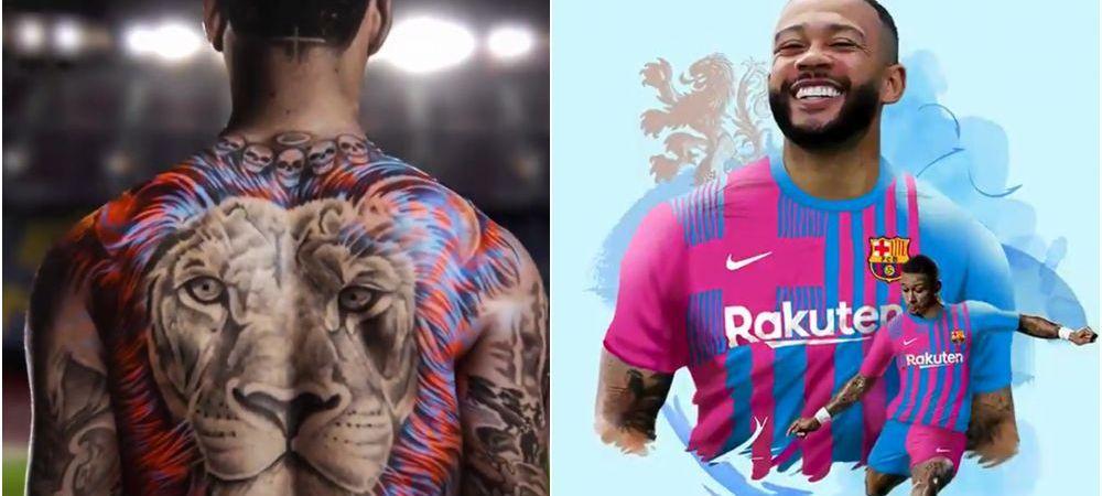 """""""Inima unui leu!"""" E oficial! Barcelona a anuntat transferul lui Depay! Clip superb de prezentare pentru atacant"""