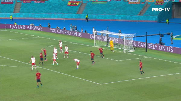 GOOOOL SPANIA! Morata deschide scorul din centrarea lui Gerard Moreno
