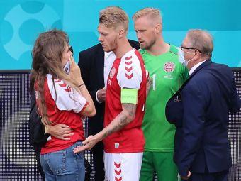 """Sotia lui Christian Eriksen, prima reactie dupa ce jucatorul danez a fost externat din spital: """"Avem nevoie de liniste"""""""