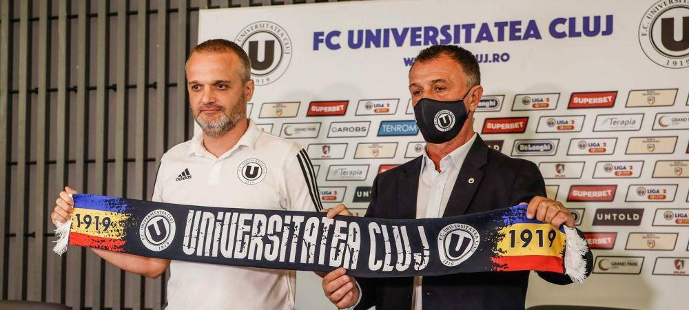 """Transferuri importante pentru """"U"""" Cluj.""""Studentii"""" au adus doi antrenori si cinci jucatori trecuti pe la echipa familiei Dragnea"""
