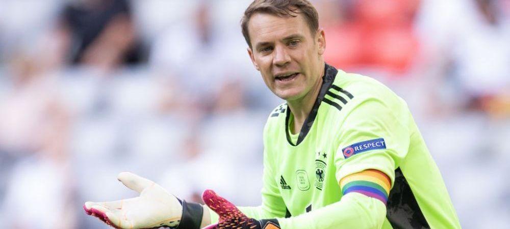 Neuer a fost iertat de UEFA! Capitanul Germaniei a fost supus unei anchete dupa ce pe banderola de capitan era inscriptionat drapelul LGBT