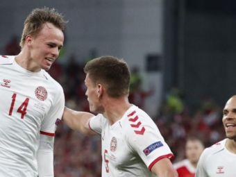 """Eurogol marcat de Damsgaard, pustiul minune al nordicilor! Executia """"a la Christian Eriksen"""" pentru tanarul atacant danez"""