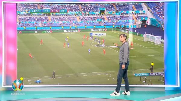 """EXCLUSIV   """"Un fundas valoros nu face asa ceva!"""" Piturca a analizat problema din apararea Italiei in meciul cu Tara Galilor! Ce a remarcat"""