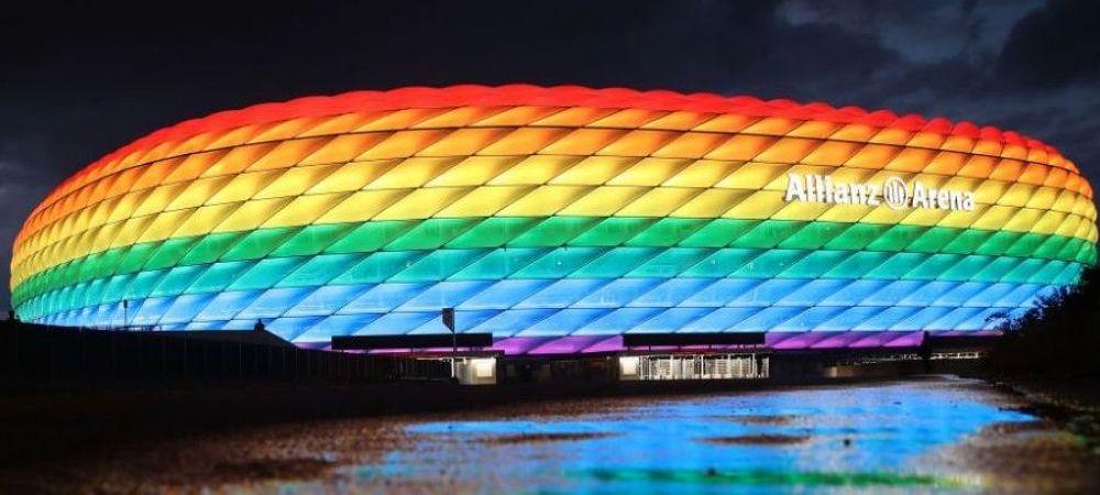 UEFA a hotarat! Cererea activistilor LGBT si a Consiliului din Munchen a fost respinsa! Allianz Arena nu va fi luminata in culorile curcubeului!