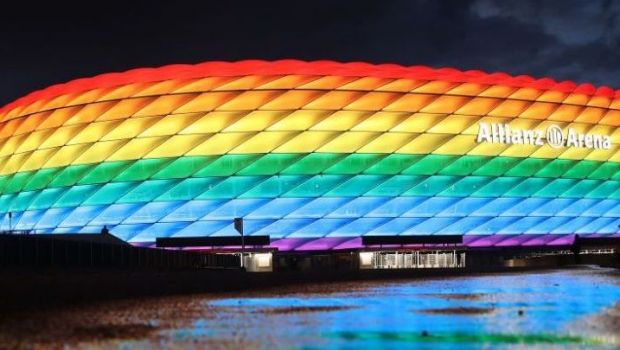 Clarificari aduse de UEFA dupa ce a interzis iluminarea stadionului din Munchen in culorile curcubeului