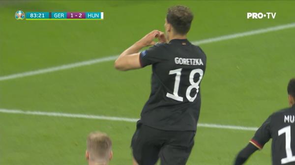 """GOOOOOOL Germania! Goretzka restabileste egalitatea. La acesta scor nemtii sunt in """"optimi"""""""