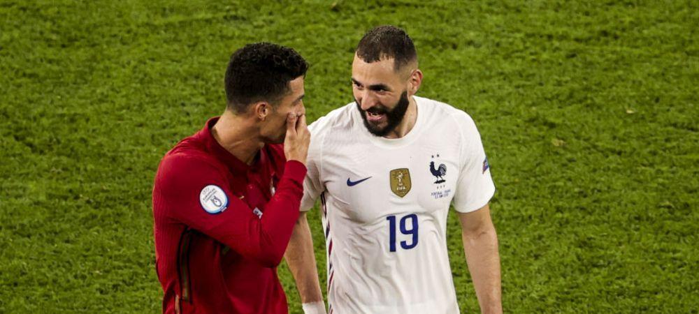 Karim Benzema a spus totul! Ce a discutat cu prietenul Ronaldo la meciul dintre Portugalia si Franta