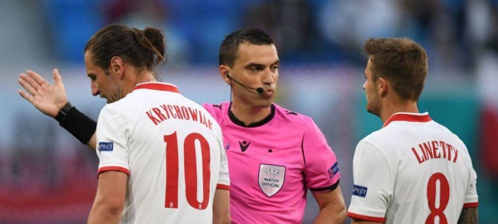 Decizie importanta luata de UEFA! Ce se intampla cu Hategan dupa ce a aratat doua cartonase rosii la Euro 2020