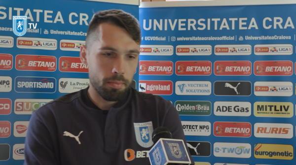 """Valerica Gaman a explicat de ce a semnat cu Craiova: """"A fost singura echipa din Liga 1 care m-a dorit"""""""