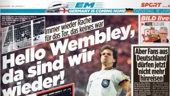 """Aroganta stil Gigi Becali a germanilor: """"Venim acasa, pe Wembley-ul nostru!"""" Scrisoarea Bild pentru englezi"""