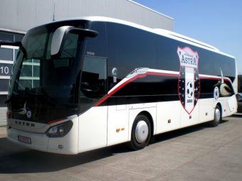 Situatie disperata la Astra Giurgiu! Autocarul echipei a fost cumparat la licitatie de o scoala de fotbal din Cluj