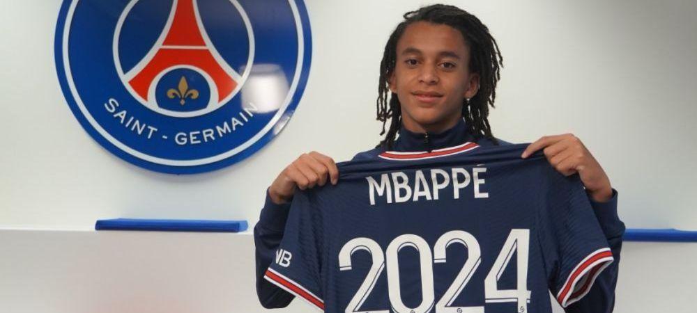 Veste mare in fotbalul din Franta! Ethan, fratele lui Kylian Mbappe, a semnat cu Paris Saint-Germain