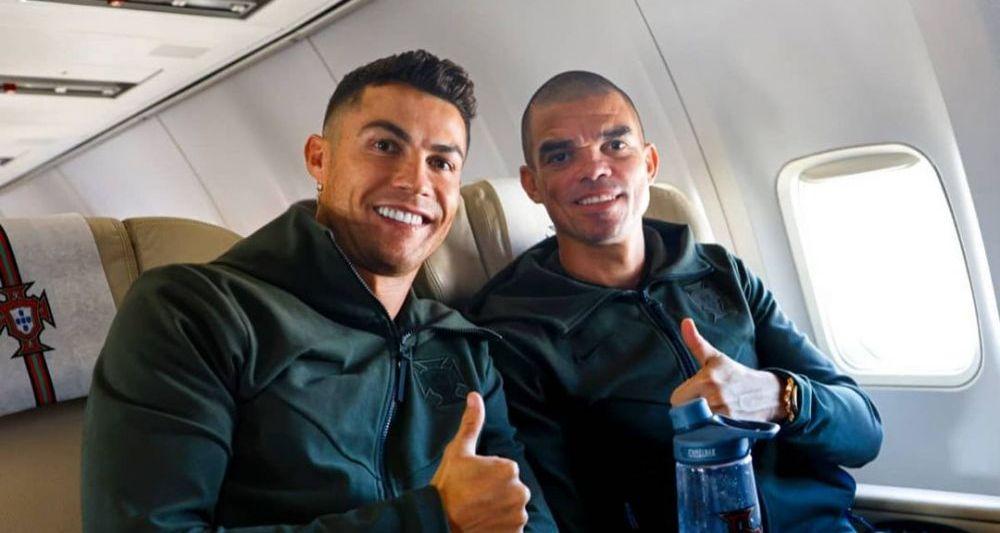 Imaginea care a starnit controverse pe internet! Ronaldo, fotografiat cu o bautura galbuie pe masa