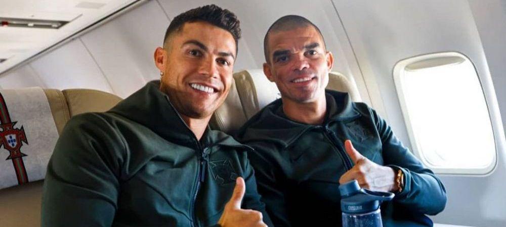 Imaginea care a starnit controverse pe internet! Ronaldo fotografiat cu o bautura galbuie pe masa