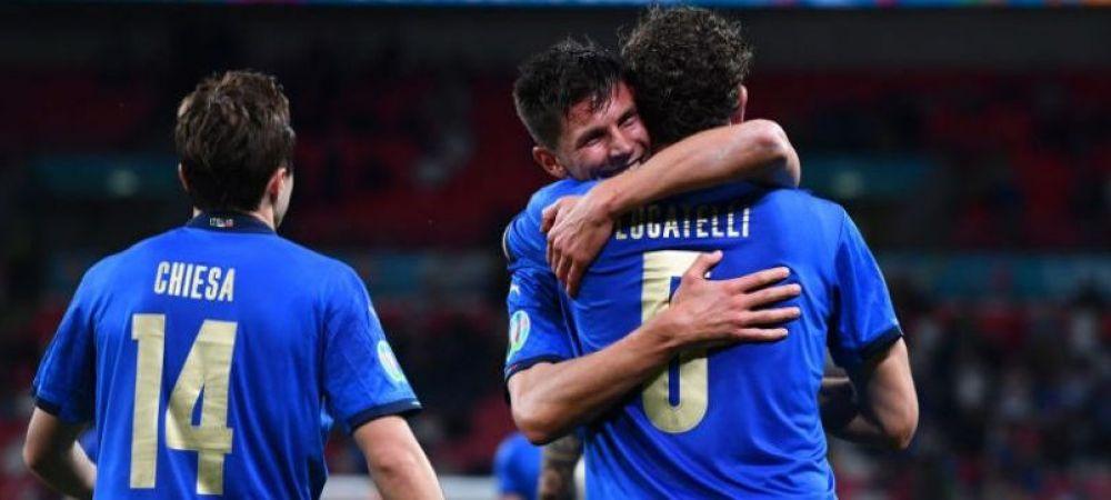 Italia stabileste un record incredibil la Euro 2020! De cand nu a mai primit gol nationala lui Mancini