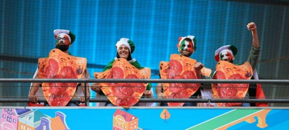 Tara Galilor, demolata de Danemarca! Italia continua seria meciurilor fara infrangere. Fanii, trup si suflet alaturi de favoriti. Imaginile zilei