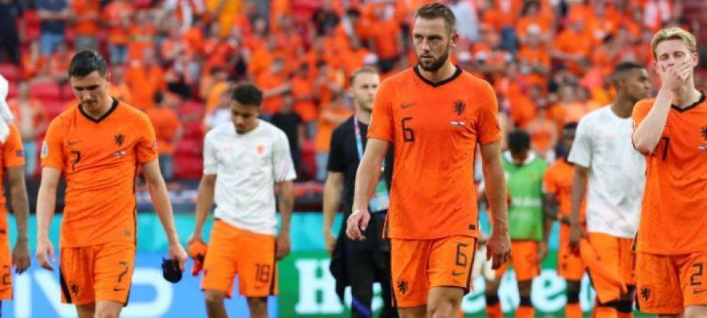 Nationala Tarilor de Jos a bifat trei recorduri negative in meciul cu Cehia! Cum a intrat De Ligt in istorie dupa ce a vazut cartonasul rosu