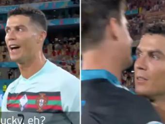 """""""Norocos, nu?"""". Cristiano Ronaldo, dialog incredibil cu Courtois dupa infrangerea din optimi. Camerele de filmat au surprins tot VIDEO"""