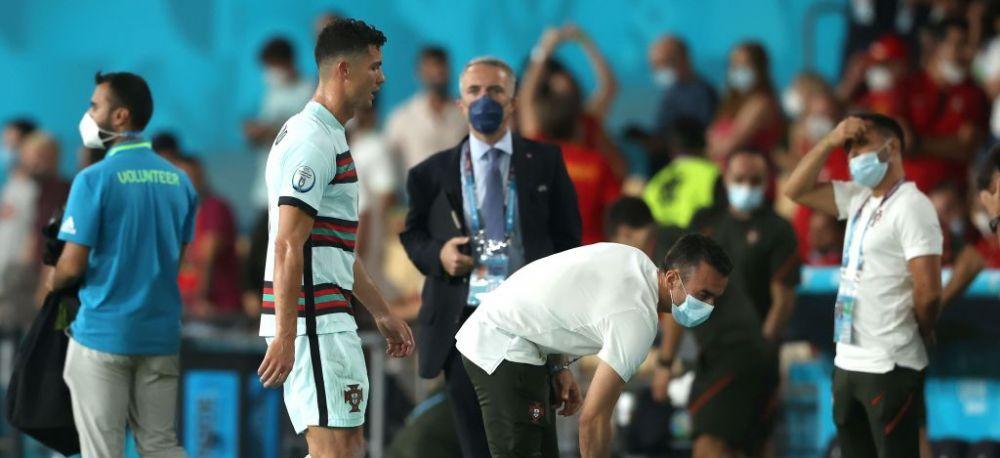 Frustrarea si nervii si-au spus cuvantul! Ronaldo a luat la suturi banderola de