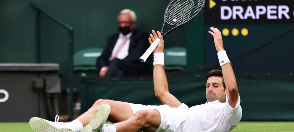 Start cu peripetii in turneul de la Wimbledon! Novak Djokovic a pierdut set in fata unui pusti de 19 ani si a bifat o contra-performanta dupa 11 ani fara greseala