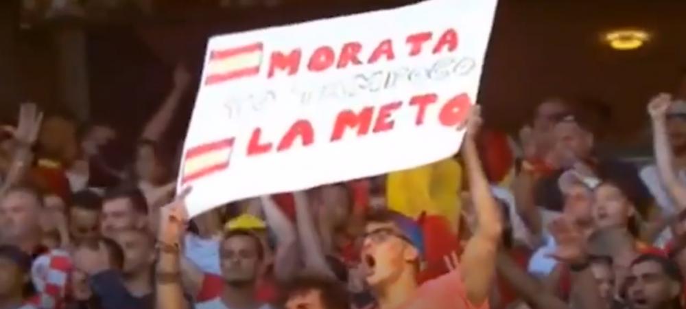 "Probabil cel mai amuzant banner de la Euro:""Morata, nici eu n-o bag!"""