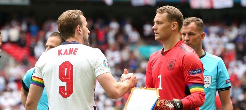 Kane si Neuer s-au tinut de cuvant! Ambii au aparut cu banderole cu insemnele LGBT, chiar impotriva dorintei celor de la UEFA