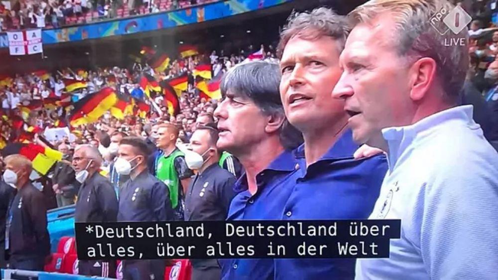 Scandalul momentului la Euro! Imnul nazist, in direct la TV inaintea meciului dintre Anglia si Germania. Cum se scuza televiziunea neerlandeza