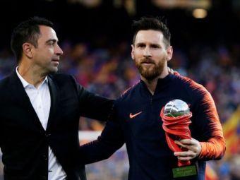 """Legendarul Xavi ii linisteste pe fanii Barcelonei! """"Daca as face pariu, as spune ca Messi va continua la club"""""""