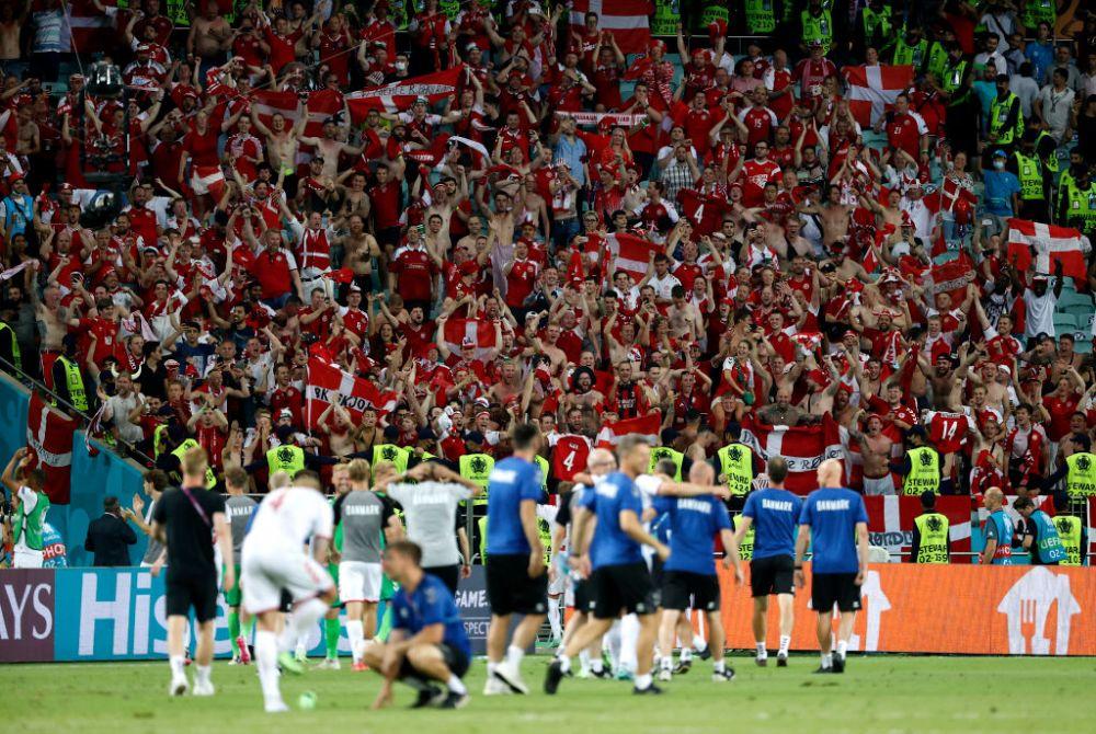 FOTO De la drama lui Eriksen la calificarea in semifinale. Bucuria danezilor in cele mai impresionante imagini de la Baku