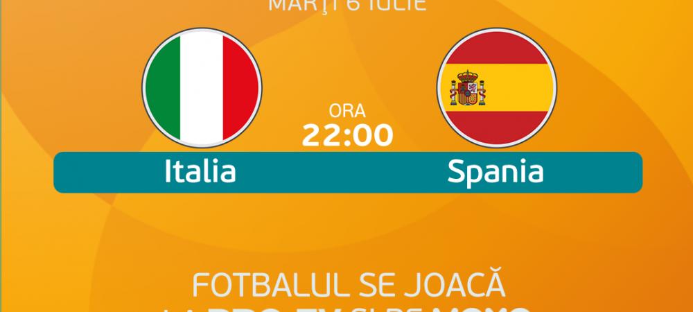 Italia - Spania, 22:00, PRO TV si VOYO   Se decide prima finalista de la EURO 2020: echipele probabile