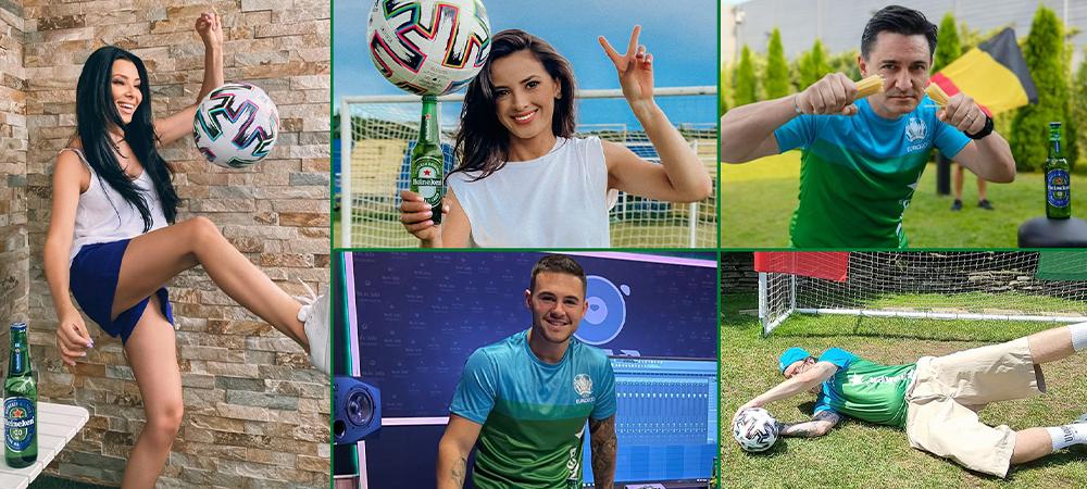 Cei mai cool influenceri din Romania, invitati sa se bucure de rivalitatea de la EURO 2020