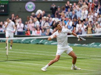Novak Djokovic s-a calificat in a 30-a finala de mare slem a carierei! O va juca impotriva lui Matteo Berrettini, primul italian finalist in 144 de ani de istorie la Wimbledon