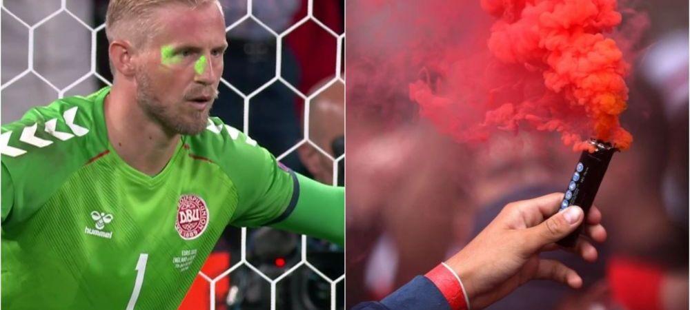 UEFA a sanctionat Anglia dupa ce suporterii englezi au folosit lasere si fumigene la meciul cu Danemarca. Amenda primita de britanici