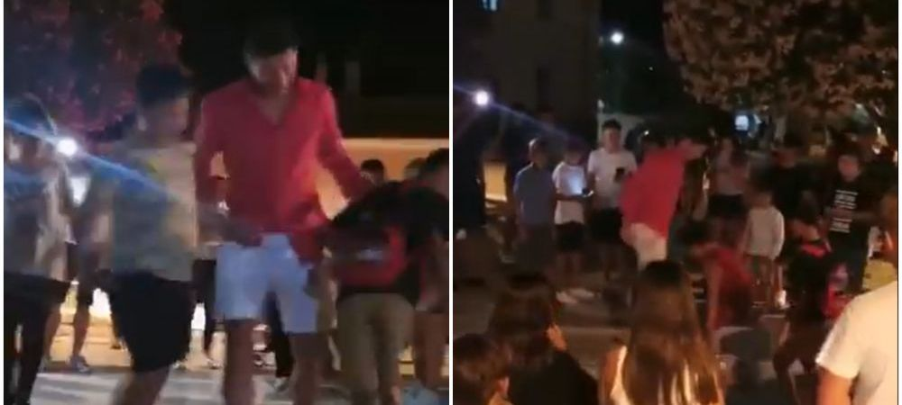 Nu poate sta departe de minge! :) Imagini geniale cu Lewandowski in vacanta! A iesit in strada sa se joace fotbal cu copiii