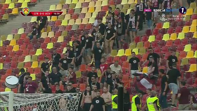 FOTO   Galeria CFR-ului a intarziat la meciul din Supercupa! Si-au facut prezenta dupa 16 minute de joc