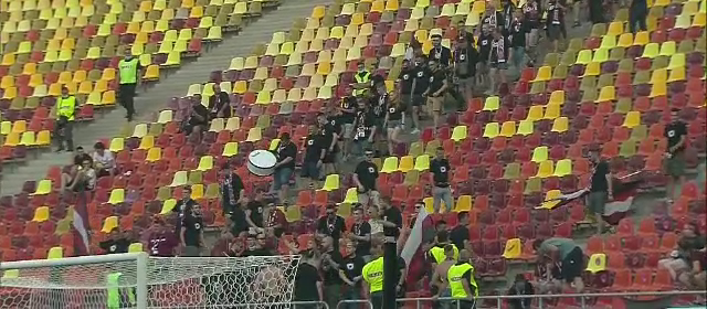 Galeria CFR-ului a intarziat la meciul din Supercupa! Si-au facut prezenta dupa 16 minute de joc